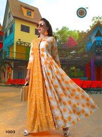 Stylish Cotton Print Long Kurti Collection