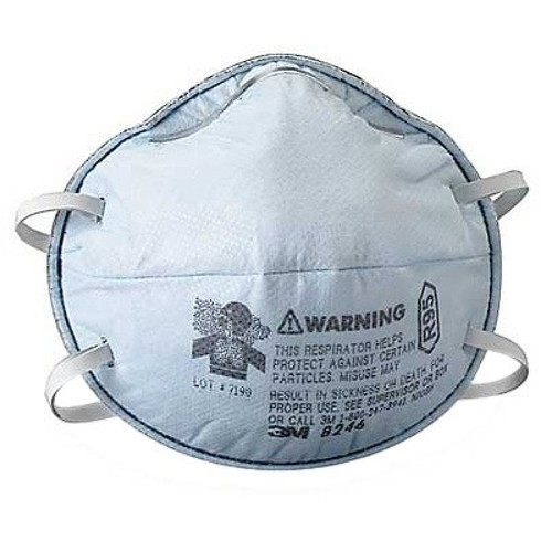 3M Particulate Respirator 8246, R95, With Nuisance Level Acid Gas Relief