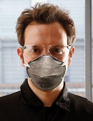 3M 9913 Disposable Respirator, Adjustable Nose Clips