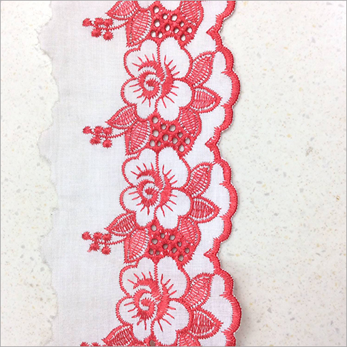 Floral Embroidered Hakoba Lace