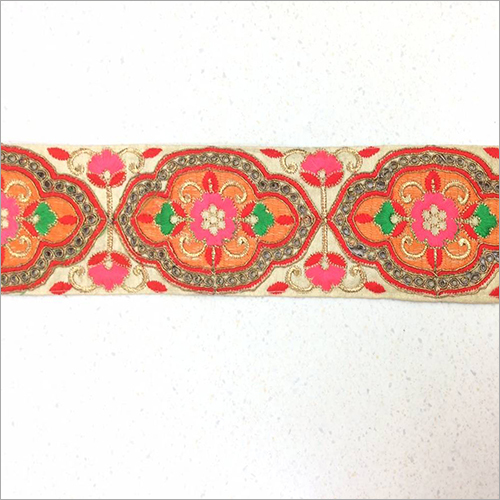 Hand Cotton Embroidered Lace