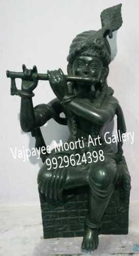 Marble Black Krishna Statue