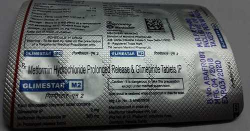 metformin hydrolcloride prolonged release glime piride tablets