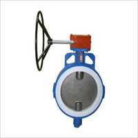 PTFE Gear Operated Butterfly Valve