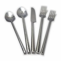 Hammered Rod Flatware Hand Forge Cutlery Set
