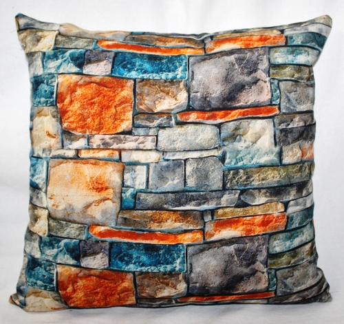 Stones Print Cushion Cover