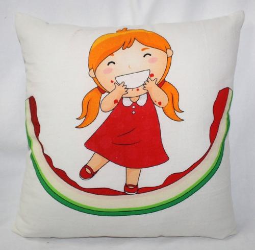 Doll Print Cushion Cover