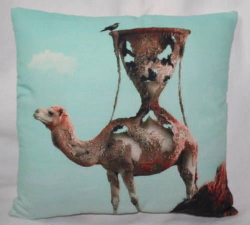 Camel Print Cushion Cover