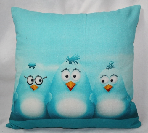 Cartoon Print Cushion Cover