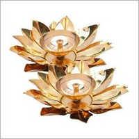 Brass Lotus Diya
