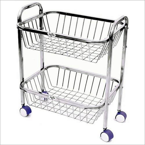 Two Tier Stainless Steel Basket