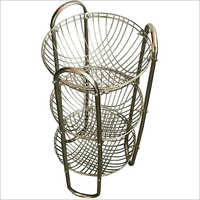 Three Tier Stainless Steel Basket