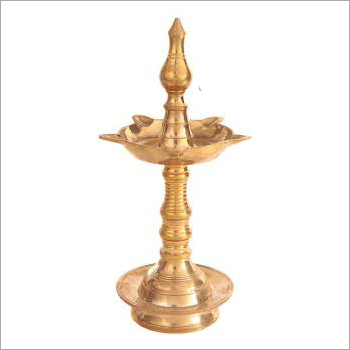 Antique Brass Diya With Stand