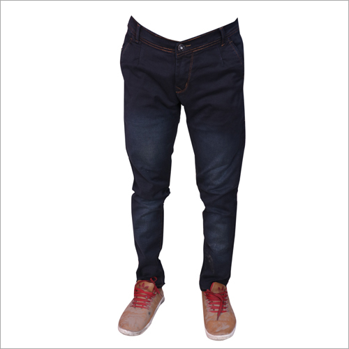 Mens Black Stretchable Jeans