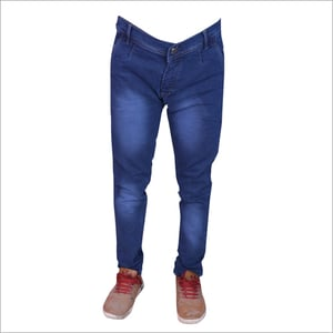 Mens Blue Shaded Stretchable Jeans
