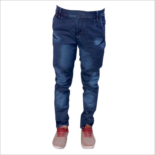 Mens Dark Grey Shaded Regular Fit Stretchable Jeans