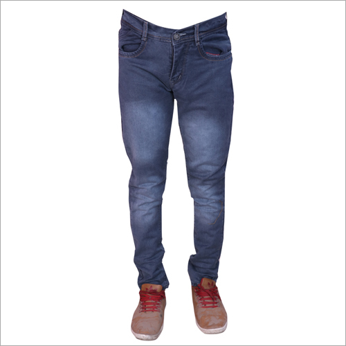Mens Grey Shaded Regular Fit Stretchable Jeans