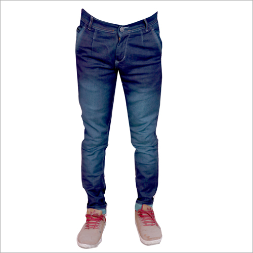 Mens Green Shaded Regular Fit Stretchable Jeans