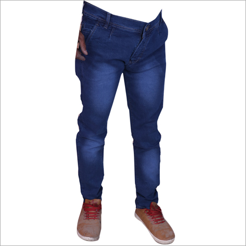 Mens Blue Shadded Mens Regular Fit Stretchable Jeans