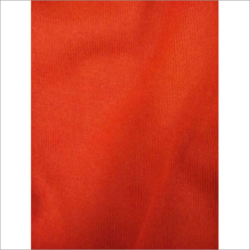 Red Plain Acrylic Fabric