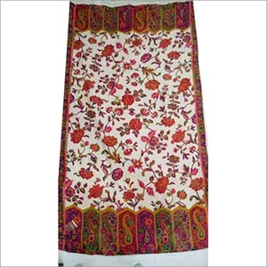 Printed Embroidered Shawl