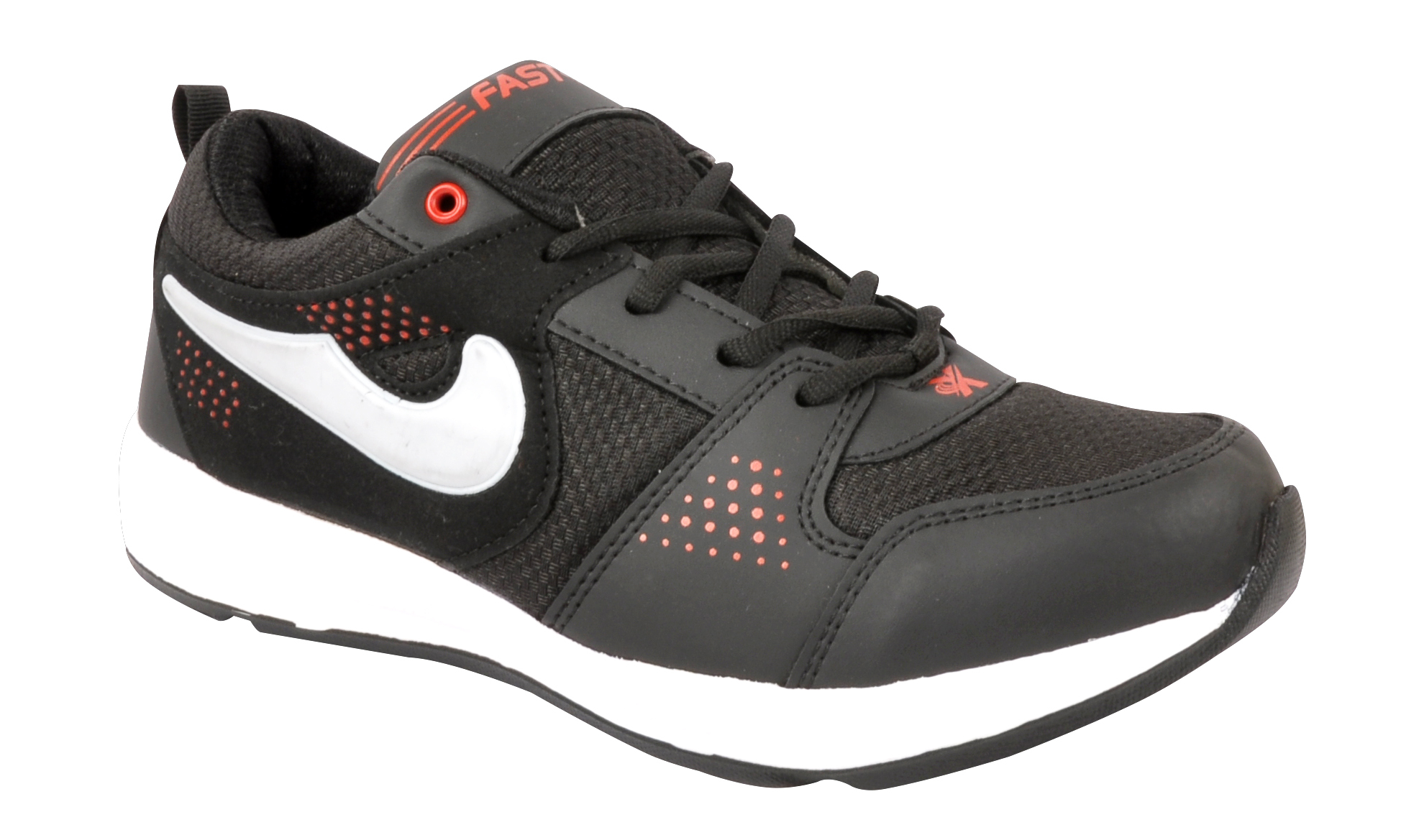 Radium Black & Red Sports Shoes