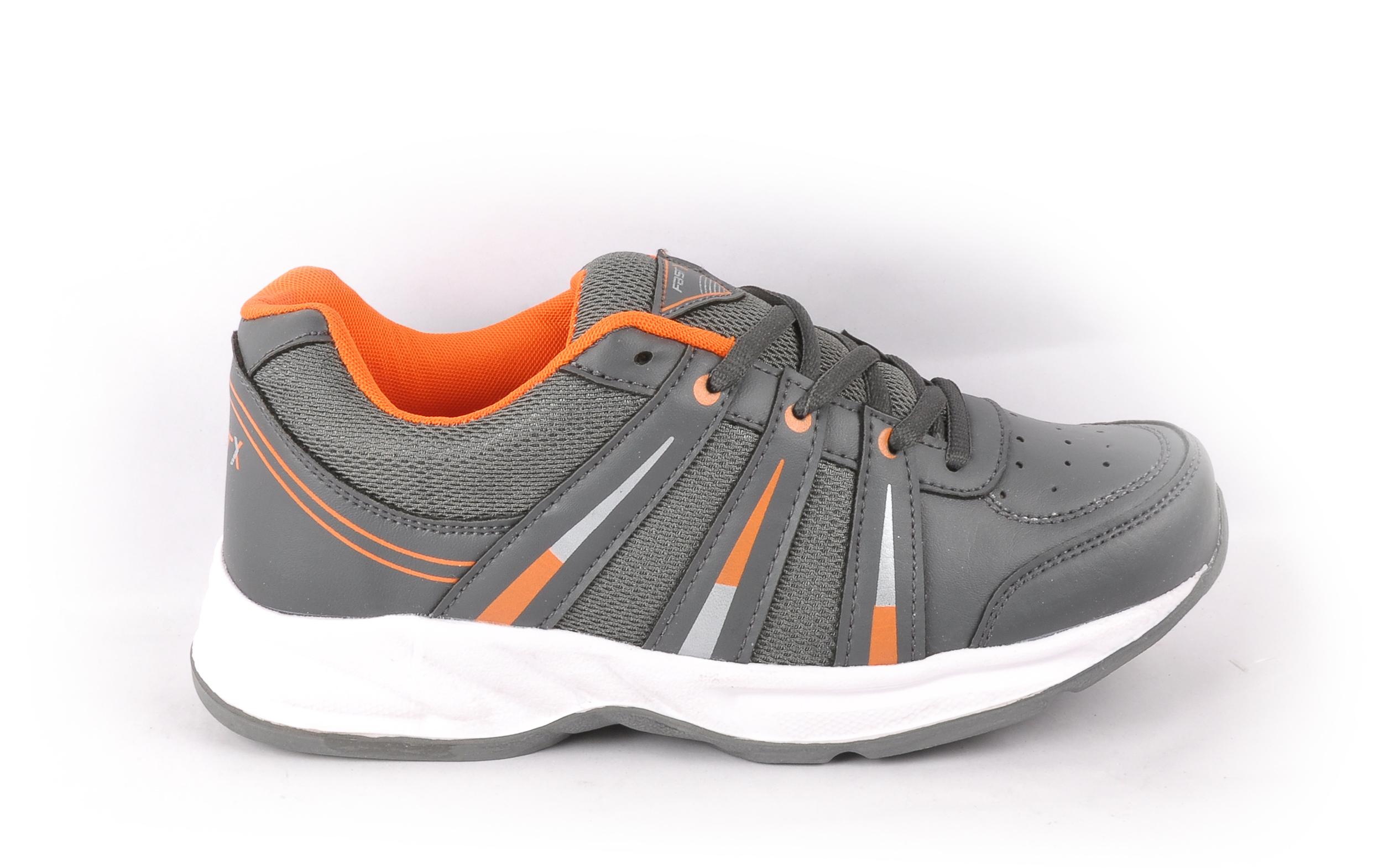 Grey Orange Men's Sports Shoes