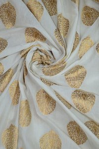Nylon Chanderi Plain Fabric