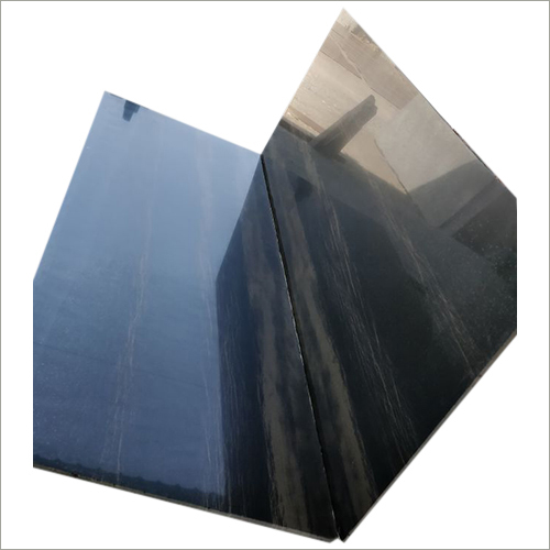 Polished Black Sandstone Slab