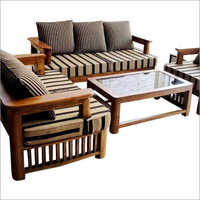 Living Room Wooden Sofa Set