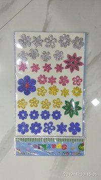 Craft Villa Sparkle Flower Glitter sticker
