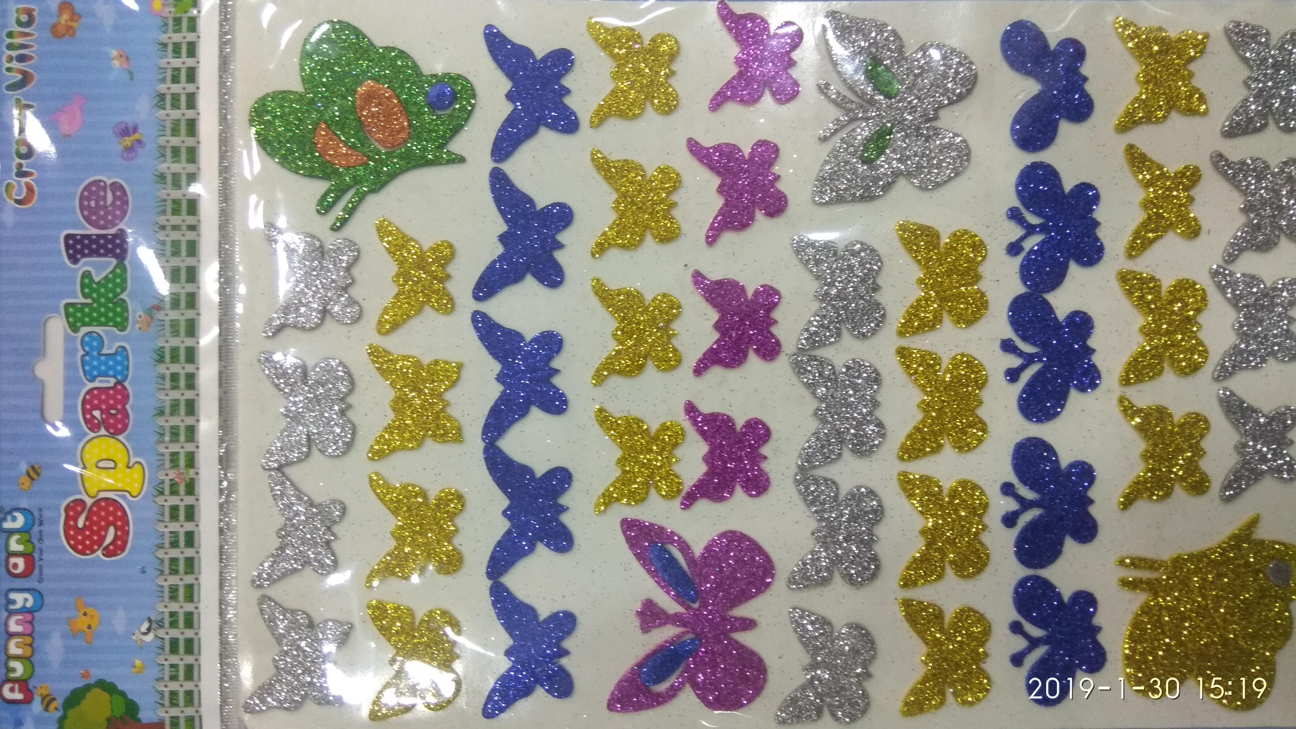 Craft Villa Sparkle Butterfly Glitter Sticker