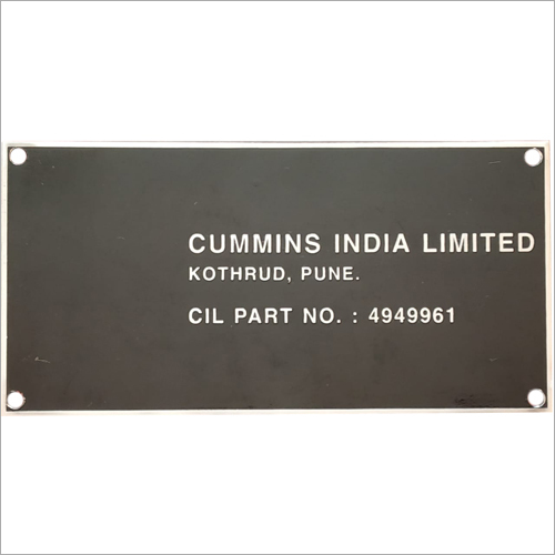 Company Name SS Plate