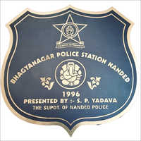 Police Gate SS Label Plate