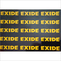 Exide Signs Sticker