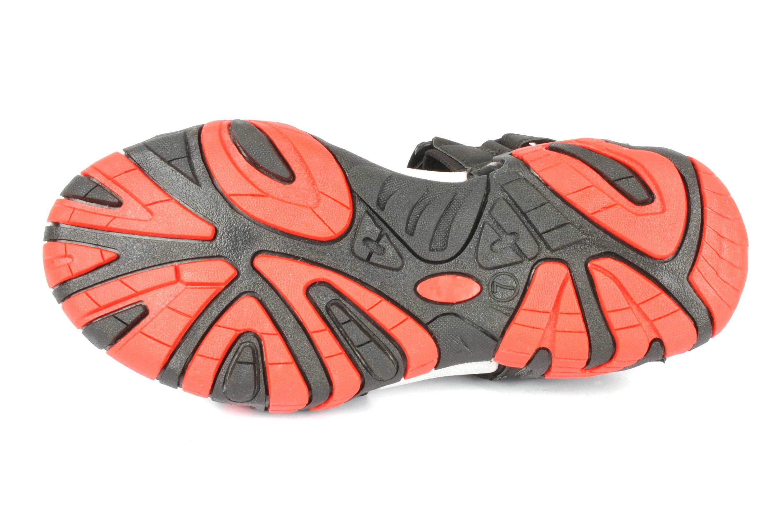 Black & Red Mens casual sandal