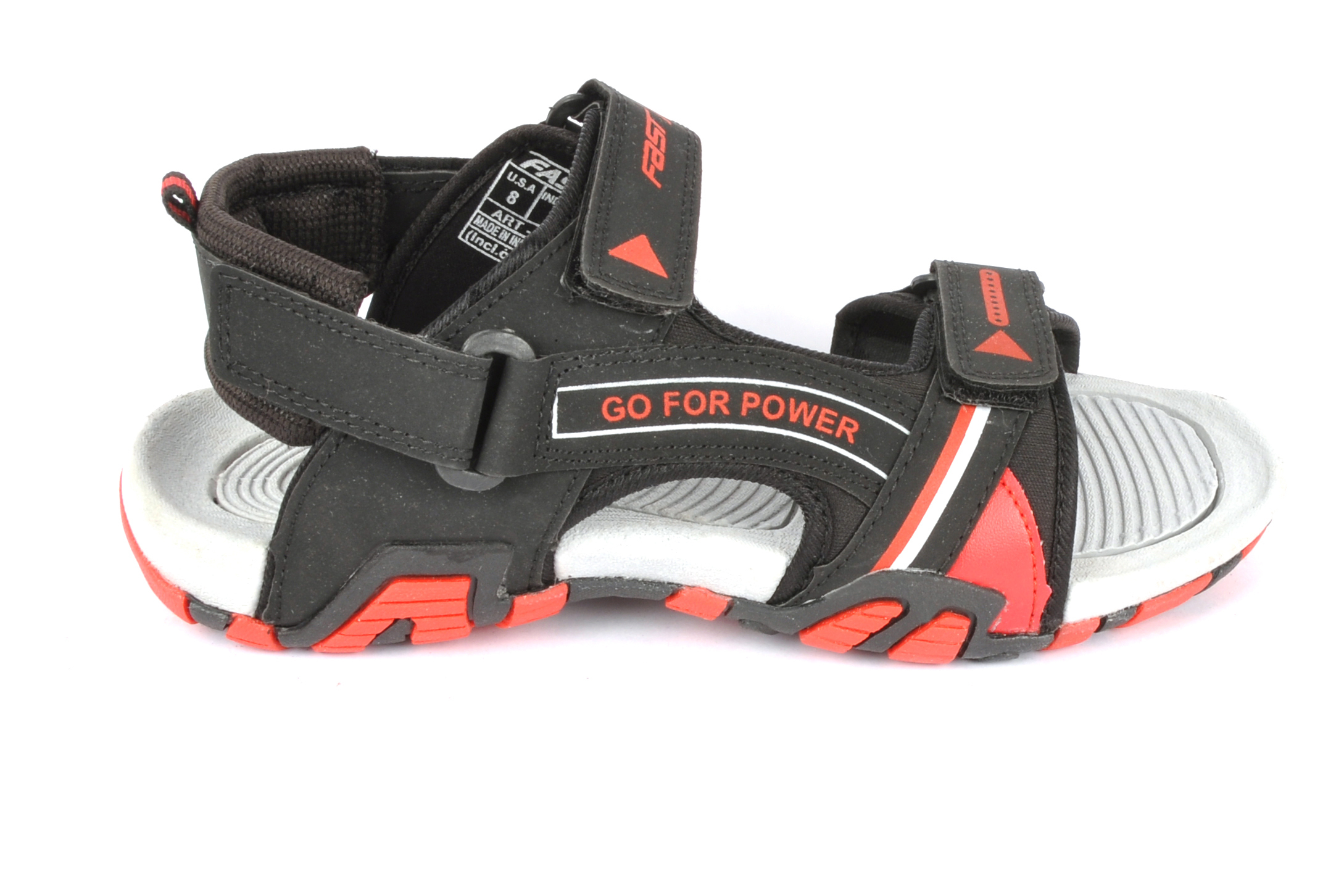 Black & Red Mens casual sandal