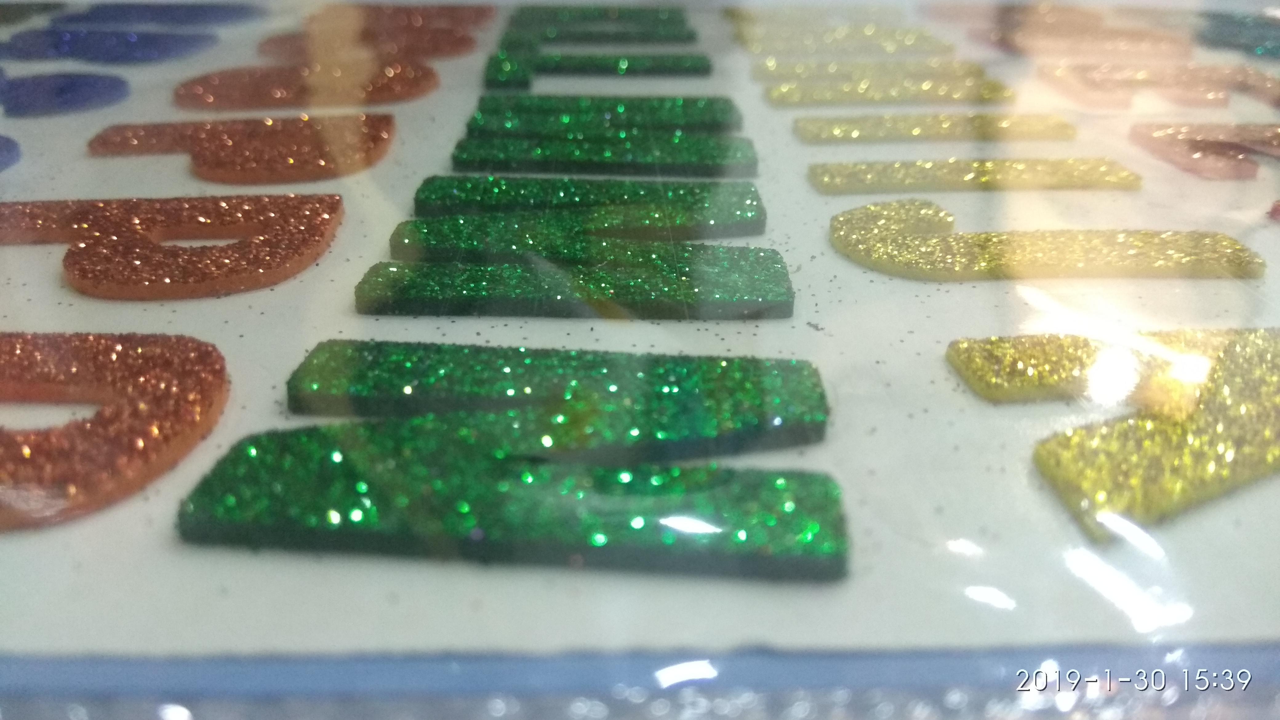 Craft Villa Sparkle Alphabet Glitter Sticker