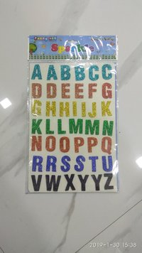 Craft Villa Sparkle Alphabet Glitter Sticker