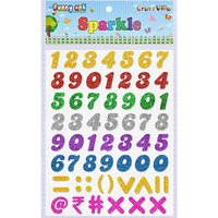 Craft Villa Sparkle Numeric Glitter Sticker