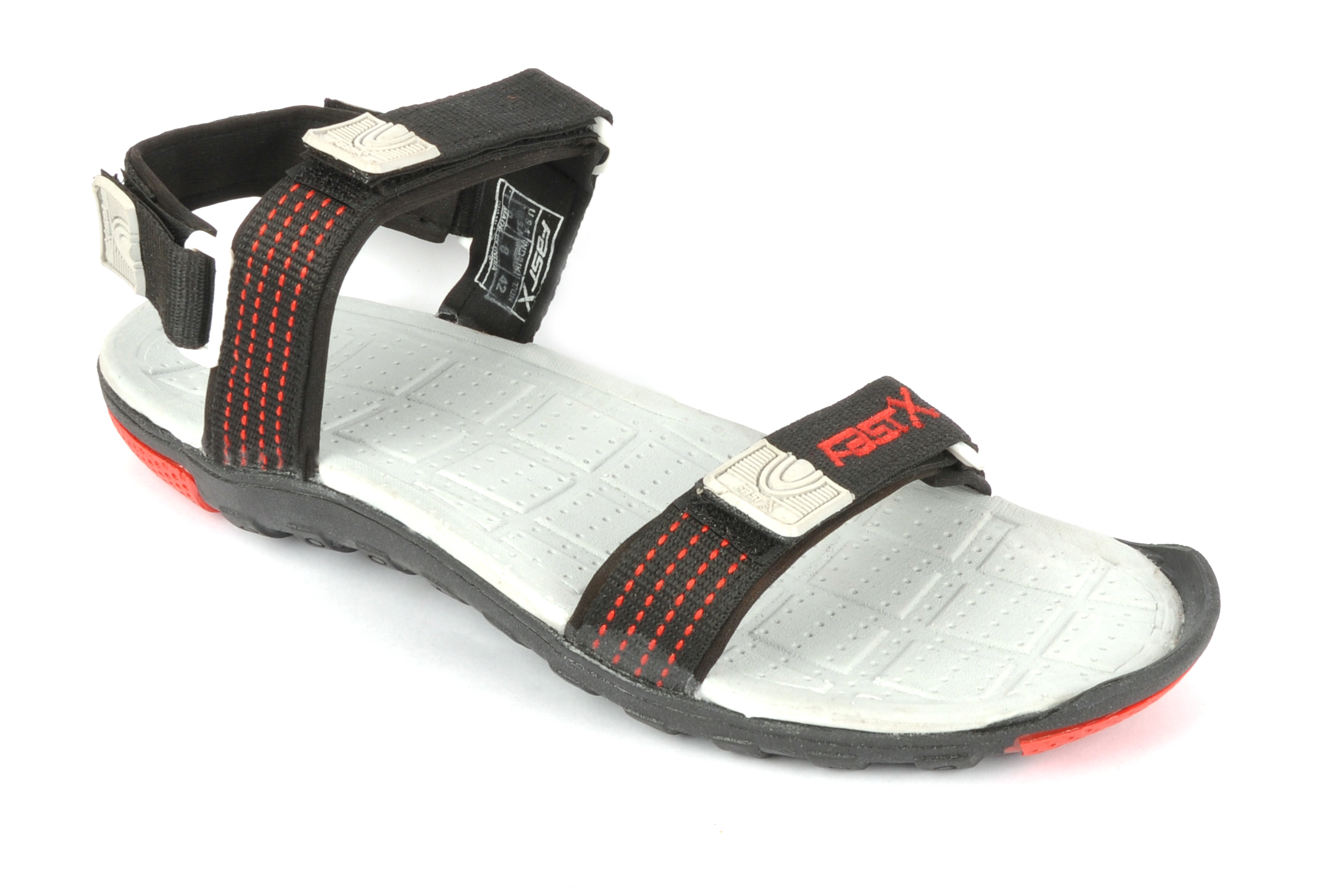 Black & red mens sandal