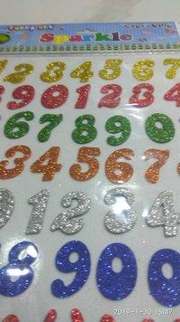 Craft Villa Sparkle Numeric Glitter Sticker