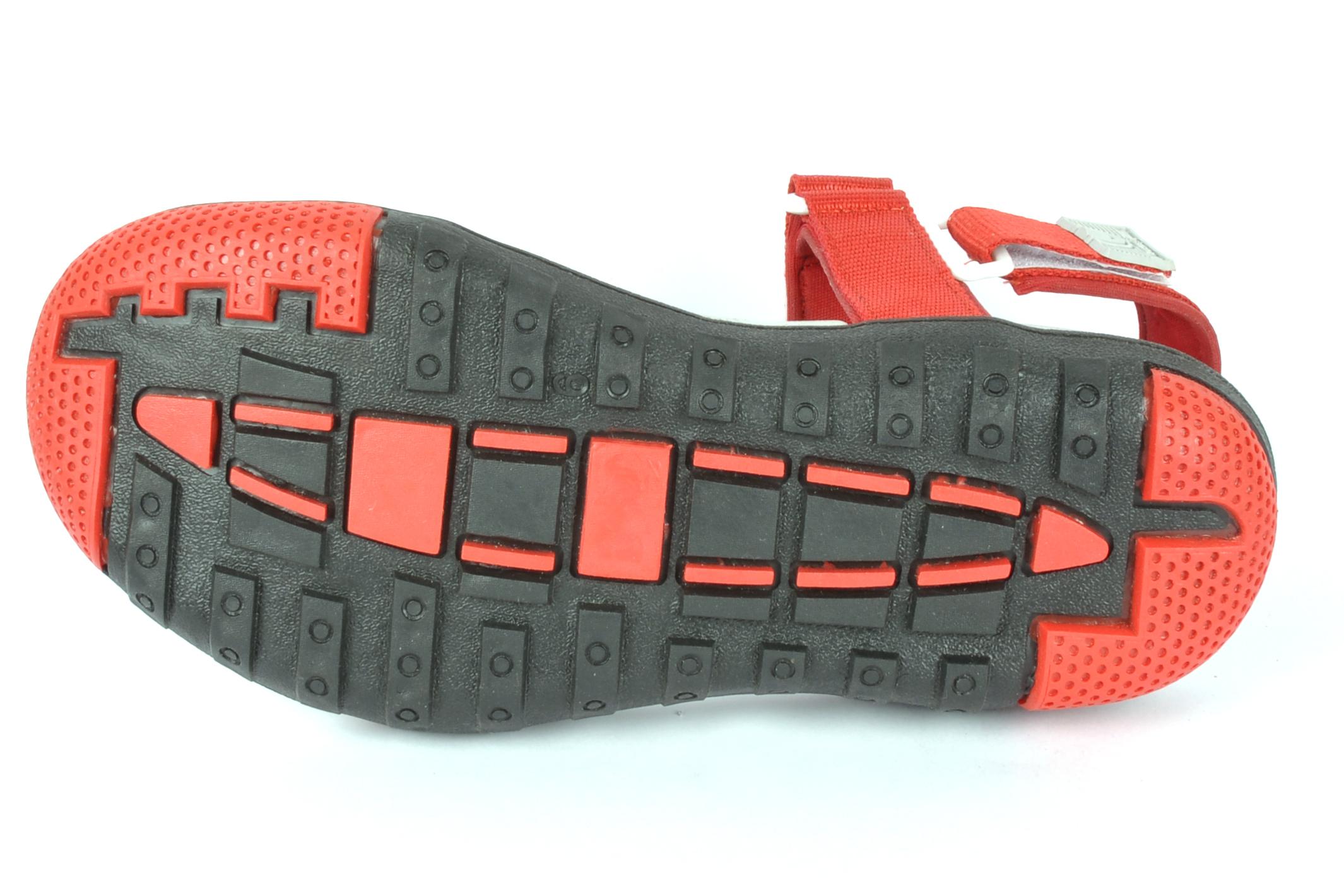 Red & white mens sandal