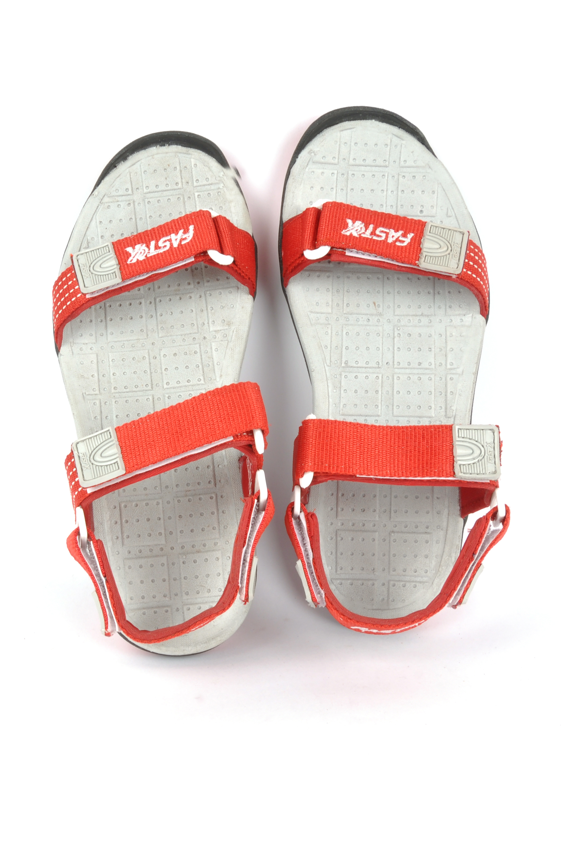 Red & White Mens Sandal