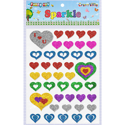 Craft Villa Sparkle Heart Glitter Sticker