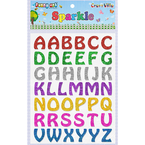 Craft Villa Sparkle Designer Alphabet Glitter Sticker