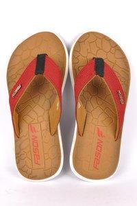 Tan Red Flip Flop slipper