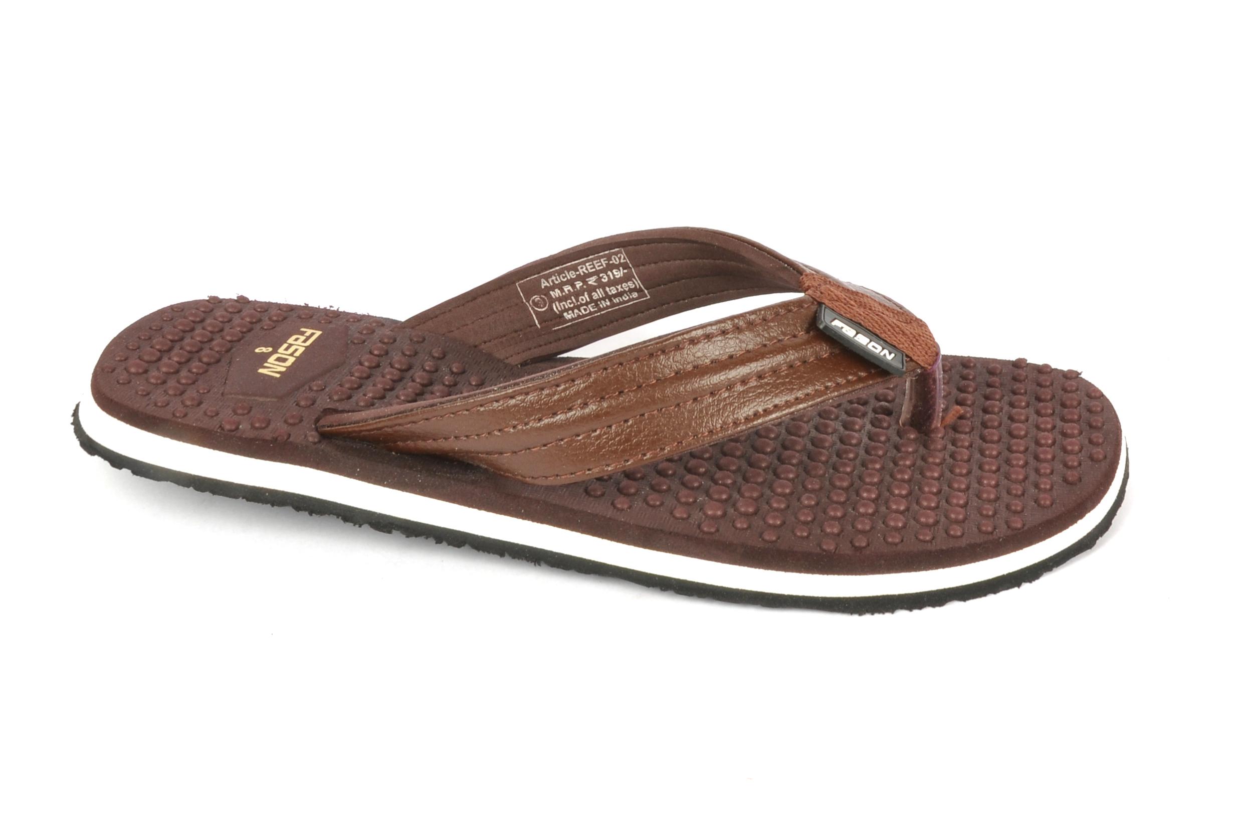 Brown massage slipper