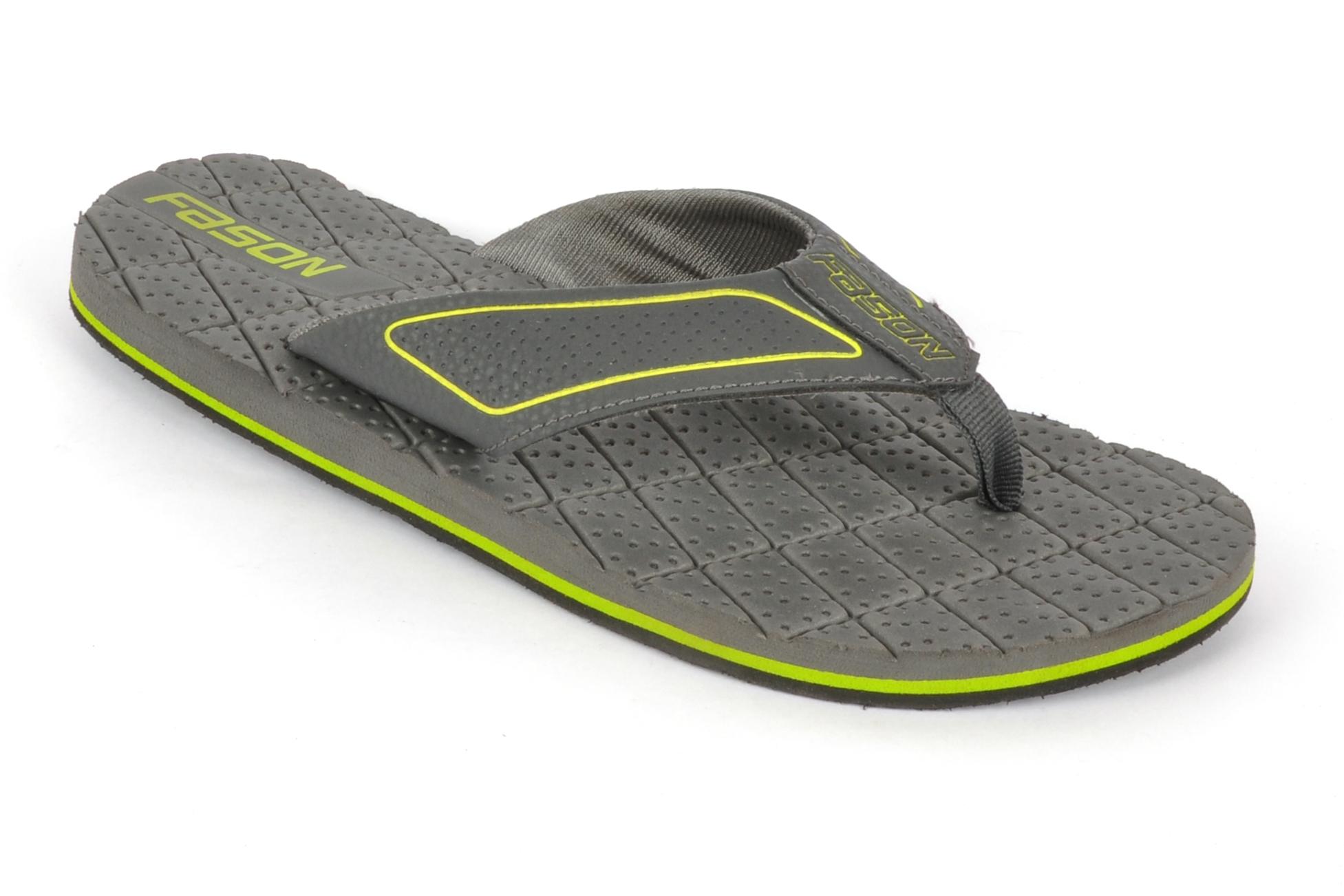 Grey & green Flip Flop slipper