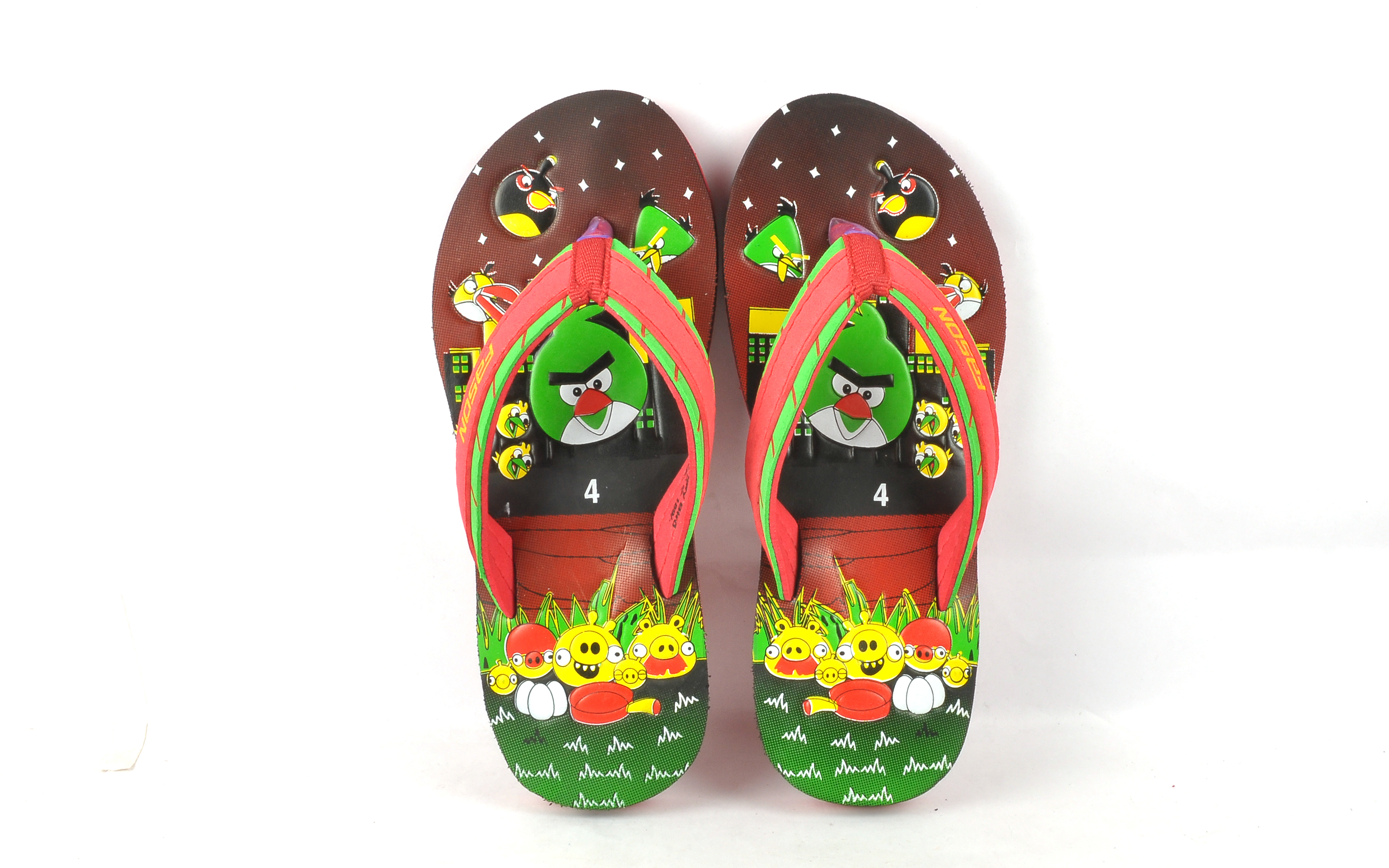 Angry bird kids slipper